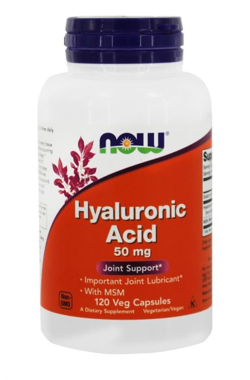 Hyaluronic Acid 50 mg + MSM от NOW 120 кап