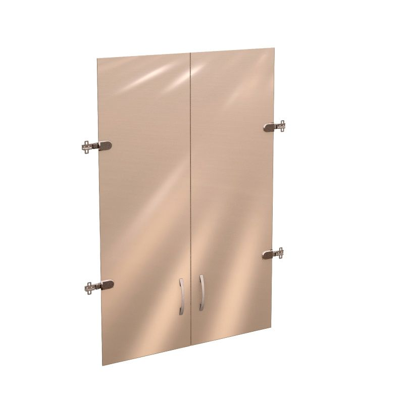 Двери стеклянные (на 3 секции) «Рубин»
