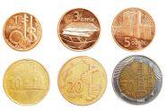 Азербайджан НАБОР 6 монет 1,3,5,10,20,50 гяпик