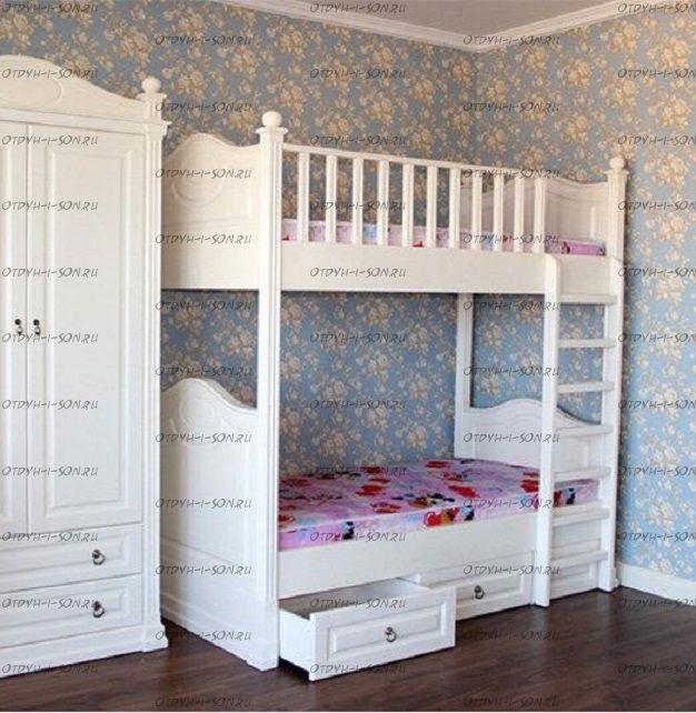 Кровать двухъярусная №19, Массив
