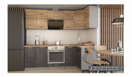 "Кухня ""Лофт №1"" 2400х1200"