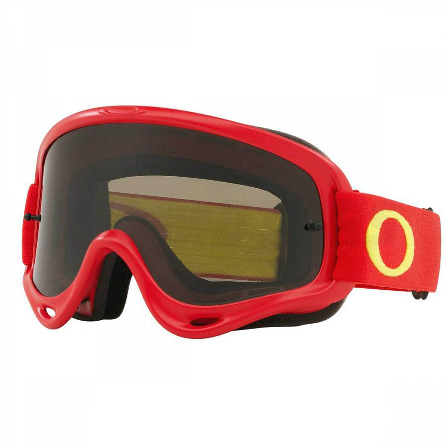 Oakley O-Frame Solid Red очки для мотокросса и эндуро (темно-серая линза)
