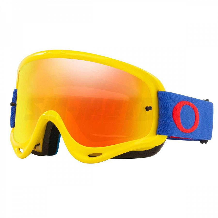 Oakley O-Frame Solid Yellow/Blue очки для мотокросса и эндуро (линза Iridium оранжевая)