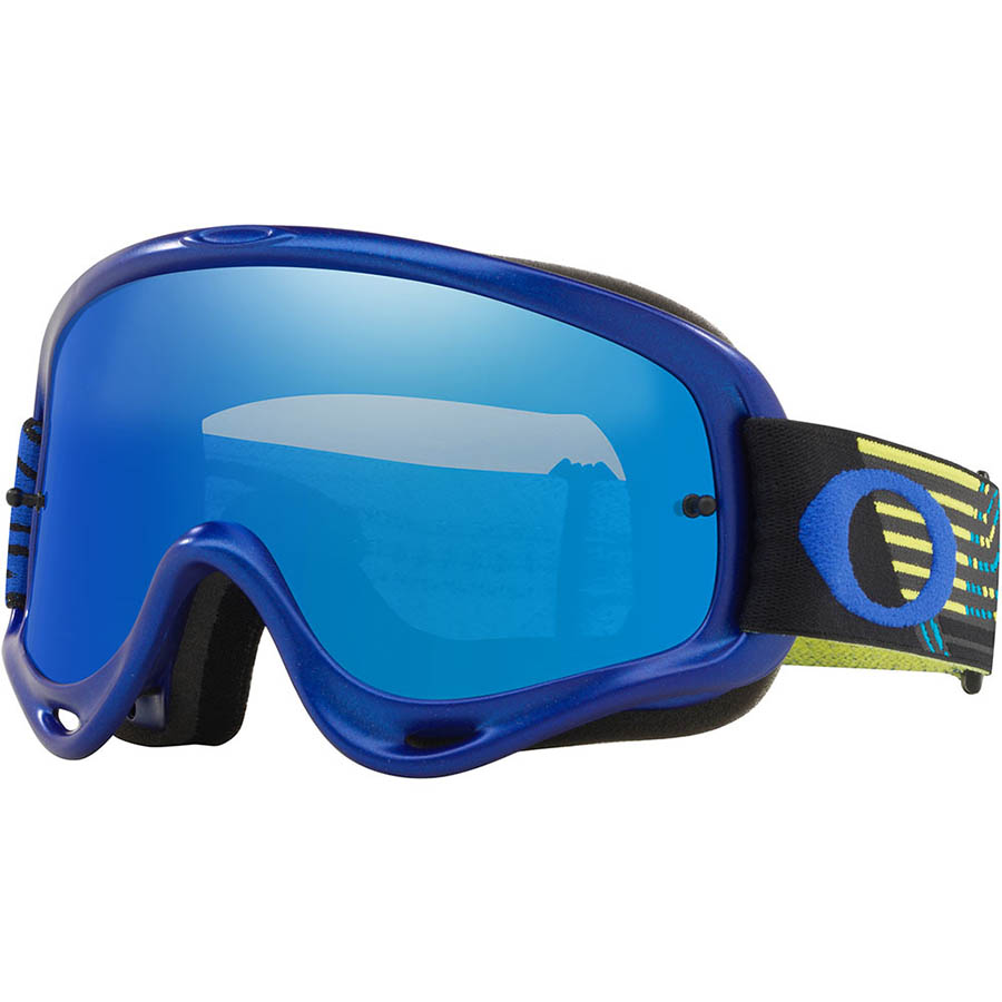 Oakley O-Frame Circuit Yellow/Blue очки для мотокросса и эндуро (линза Iridium синяя)