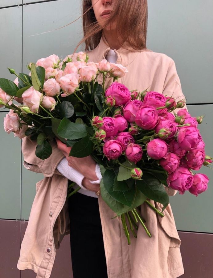 Пионовидные розы от 5 штук