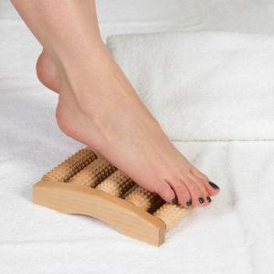 Массажёр для ног «Барабаны», деревянный, 5 рядов, малый