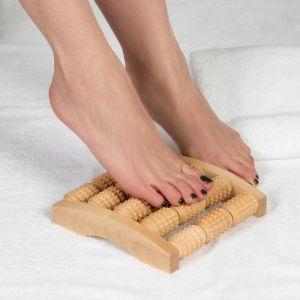 Массажёр для ног «Барабаны», деревянный, 5 рядов, средний