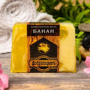 """Косметическое мыло для бани и сауны """"Банан"""", """"Добропаровъ"""", 100 гр.   2921990"""