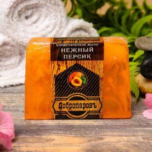 """Косметическое мыло для бани и сауны """"Нежный персик"""", """"Добропаровъ"""", 100 гр.   2922008"""