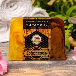 """Косметическое мыло для бани и сауны """"Тирамиссу"""", """"Добропаровъ"""", 100 гр.   2922012"""