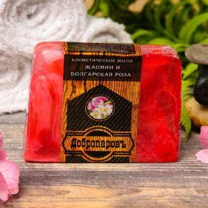 """Косметическое мыло для бани и сауны """"Цветы болгарской розы и жасмина"""", """"Добропаровъ"""", 100 гр   29220"""