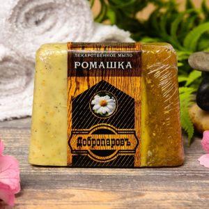 """Лекарственное мыло для бани и сауны """"Ромашка"""", """"Добропаровъ"""", 100 гр.   2922019"""