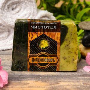 """Лекарственное мыло для бани и сауны """"Чистотел"""", """"Добропаровъ"""", 100 гр.   2922020"""