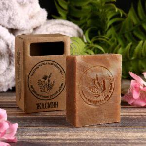 """Натуральное крафтовое травяное мыло """"Жасмин"""" в коробке, """"Добропаровъ"""", 100 г   4408356"""