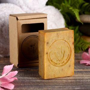 """Натуральное крафтовое травяное мыло """"Календула"""" в коробке, """"Добропаровъ"""", 100 г   4408363"""