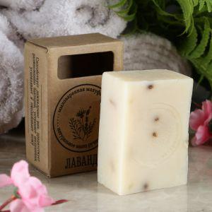 """Натуральное крафтовое травяное мыло """"Лаванда"""" в коробке, """"Добропаровъ"""", 100 г   4408357"""