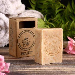 """Натуральное крафтовое травяное мыло """"Эвкалипт"""" в коробке, """"Добропаровъ"""", 100 г   4408359"""