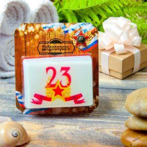 """Натуральное мыло """"С 23 февраля, со звездой"""", парфюм, """"Добропаровъ"""", 100гр   4186299"""