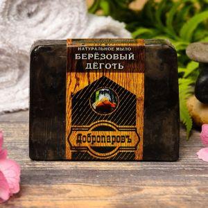 """Натуральное мыло для бани и сауны """"Берёзовый дёготь"""" 100гр   2922027"""