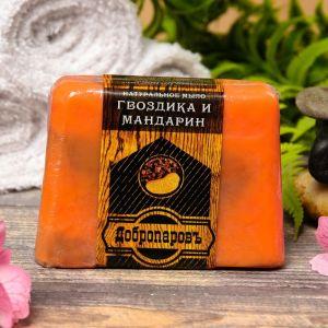 """Натуральное мыло для бани и сауны """"Мандарин-Гвоздика"""" 100гр   2922039"""