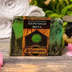 """Натуральное мыло для бани и сауны """"Ментол- мята перечная"""" 100гр   2922038"""