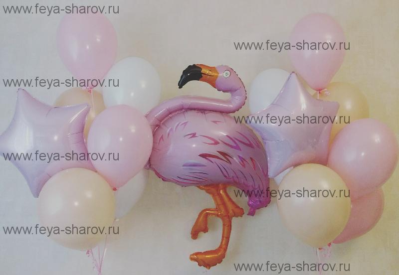 Композиция Нежный Фламинго