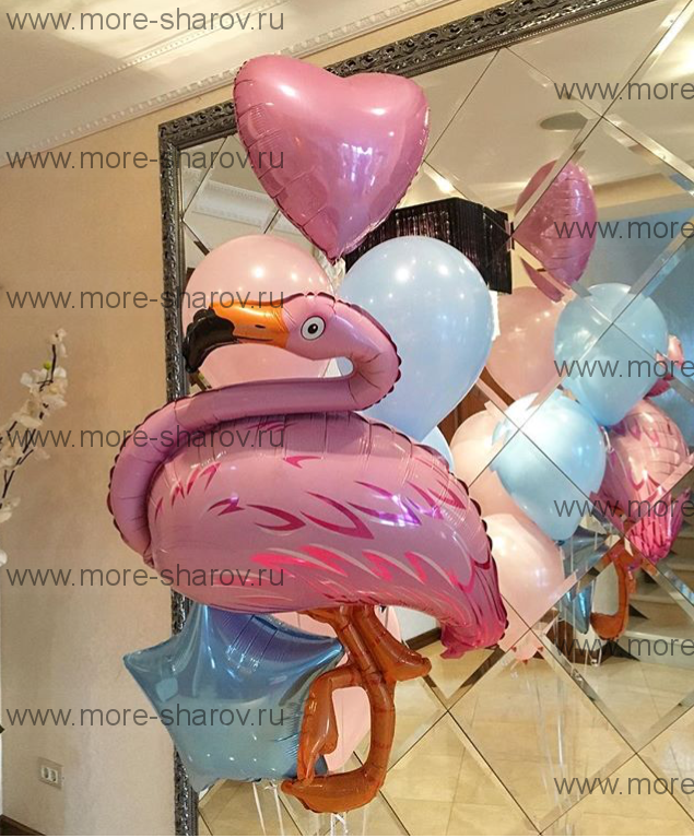 Фонтан шаров с Фламинго