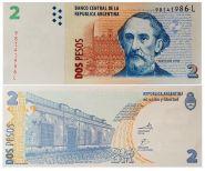 Аргентина - 2 ПЕСО 2002 UNC  ПРЕСС