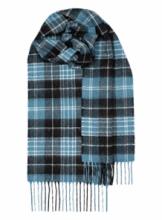шотландский шарф 100% шерсть ягнёнка , тартан клана Кларк CLARK ANCIENT TARTAN LAMBSWOOL SCARF, плотность 6