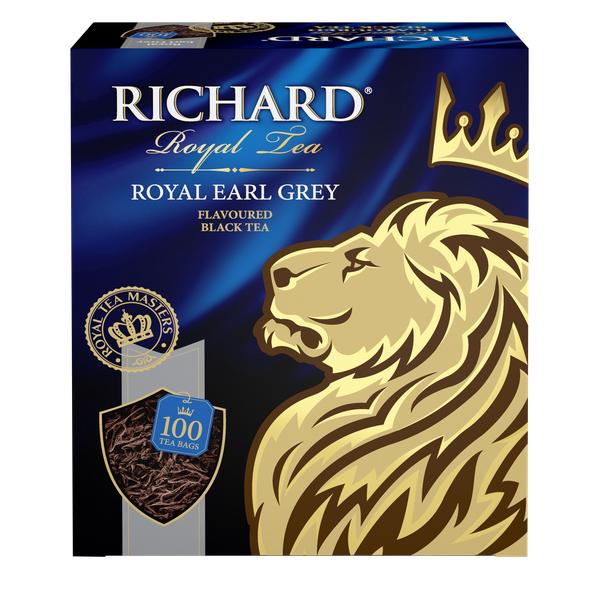 Чай Richard Royal Earl Grey 100пак*2г  конверт (сашет)