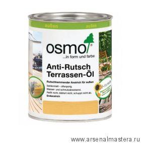 Масло для террас и лестниц с антискользящим эффектом Osmo 430 Terrassen-Ole бесцветное шелковисто-матовое  0,75 л