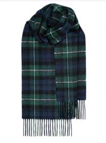 шотлагдский шарф 100% шерсть ягнёнка , тартан клана Форбс FORBES MODERN TARTAN LAMBSWOOL SCARF, плотность 6