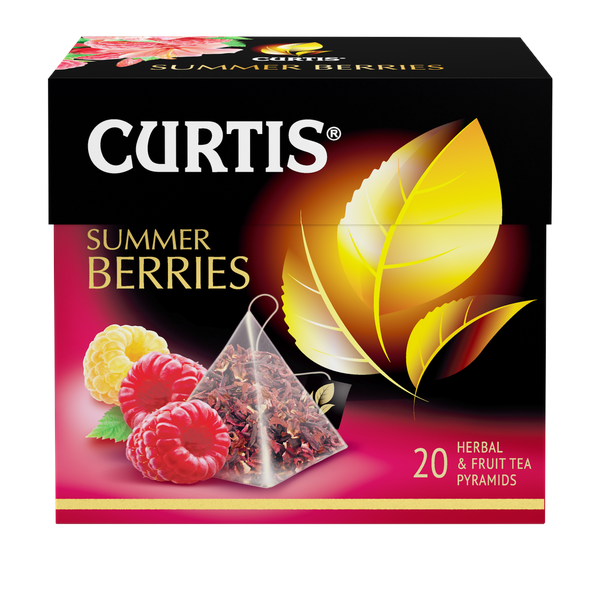 Чай Кертис Summer Berries 20пак*1,7г конверт (пирамидки)