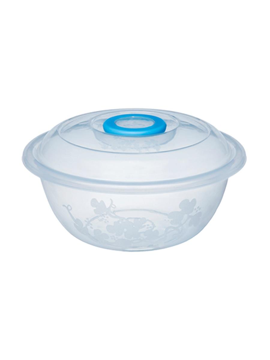 Таз мерный Изобилие 22 литра / контейнер для хранения 49,7 см прозрачный с крышкой Эльфпласт