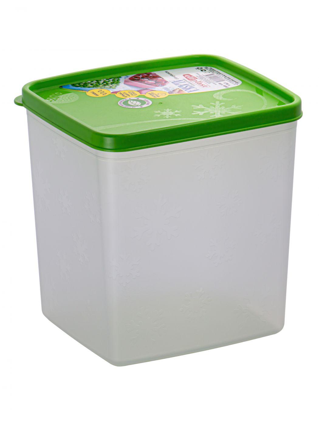 Контейнер для хранения Alaska 1,75 литра квадратный с крышкой Эльфпласт 125х141х59 мм