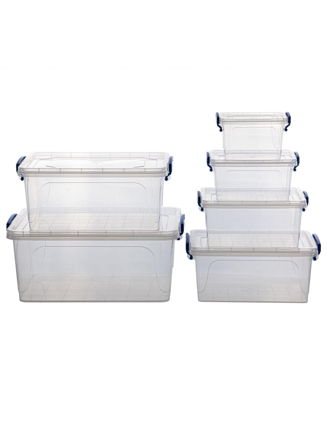 Набор из 6-ти контейнеров для хранения Эльфпласт Fresh Box с крышками