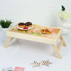 """Столик для завтрака складной """"Дорогой мамочке"""" герберы, 48?28см 3812849"""