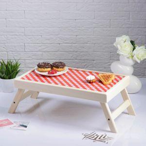 """Столик для завтрака складной """"Красная клетка"""", 48?28см 3812845"""