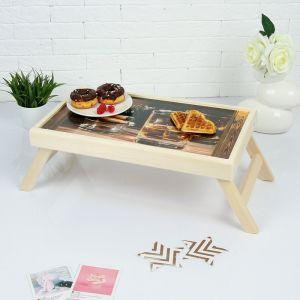 "Столик для завтрака складной ""Любимому мужчине"", 48?28см 3812850"