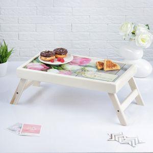 """Столик для завтрака складной """"Моей любимой"""", розы, 48?28см 3812848"""