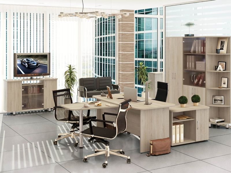 Набор мебели для руководителей (Кабинет)(5 предметов) «Лидер» (Кронберг)