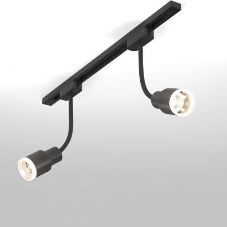 Трековый светодиодный светильник для однофазного шинопровода Molly Flex Черный 7W 4200K