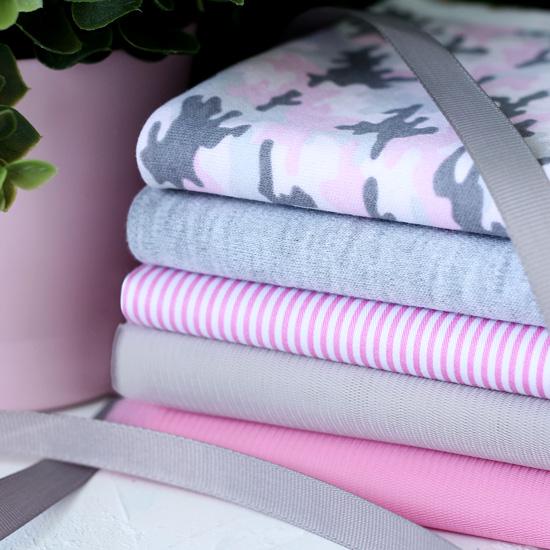 Набор тканей для пошива Розовый милитари