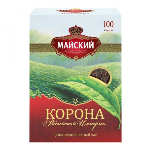 Чай Майский Корона российской империи круп.лист 100г