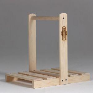 Дровница переноска деревянная, с высокой ручкой 4880164