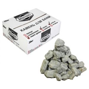 "Камень для бани ""Габбро-диабаз"" галтованный для электрокаменки, ""Добропаровъ"" 20кг,40-90мм 3505821"