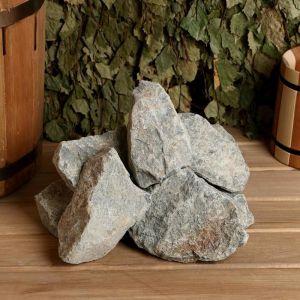 """Камень для бани """"Порфирит"""" колотый, коробка 20 кг   2496150"""
