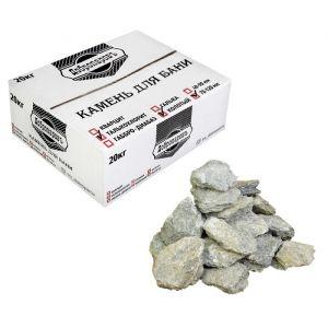 """Камень для бани """"Талькохлорит"""" колотый, """"Добропаровъ"""" коробка 20кг, фракция 70-120мм 3505825"""