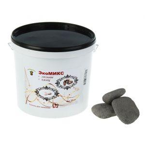 "Камень для бани ""Экомикс"" хромит, кварц галтованный, ведро 20 кг   3741165"