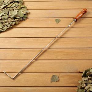 Кочерга металлическая с деревянной ручкой, с узором, 50?10?3 см   4461108